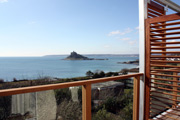 Gorgeous view of St. Michael's Mount from Mount Haven Hotel